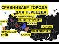 Сравниваем города для переезда: Калининград, Краснодар, Сочи, Санкт-Петербург, Москва, Крым и др #15