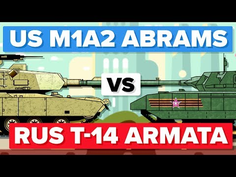 American M1 (M1A2) Abrams vs Russian T-14 Armata - Main Battle Tank / Military Comparison