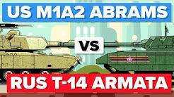 American M1 (M1A2) Abrams vs Russian T-14 Armata - Main Battle Tank / Military Comparison
