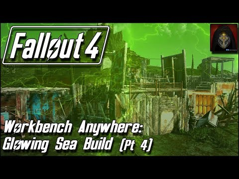 Fallout 4 | GLOWING SEA SETTLEMENT BUILD [Workbench Anywhere] #4 - Gatehouse & Walls