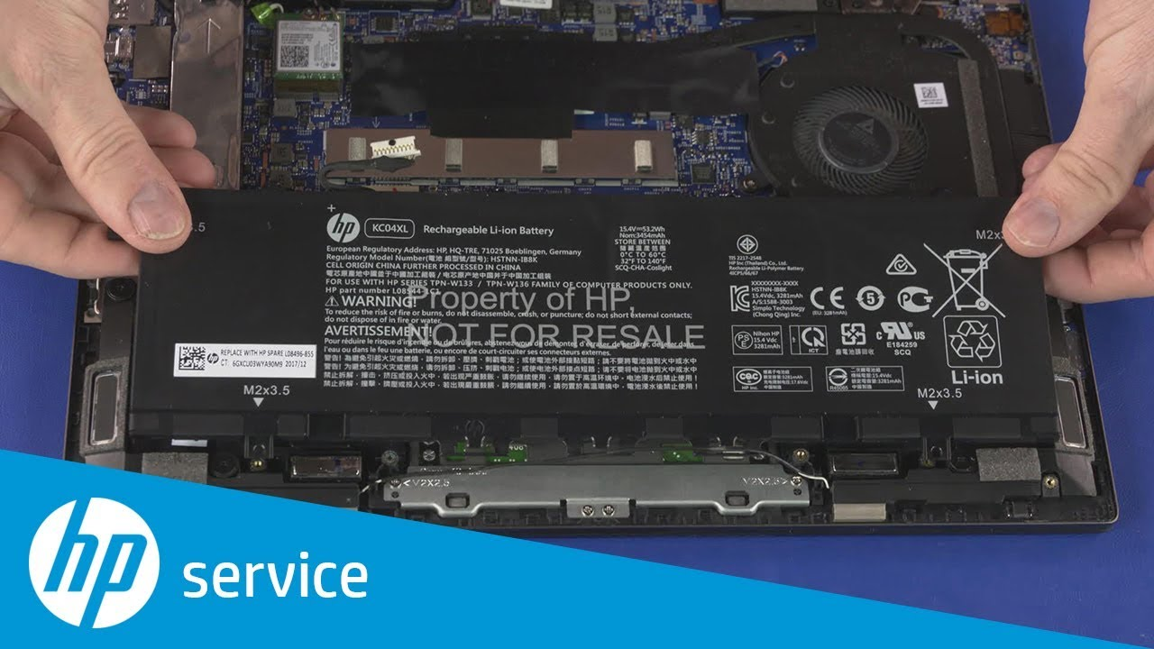 How to Remove the Battery | HP ENVY x360 13-ag0000 Convertible PC