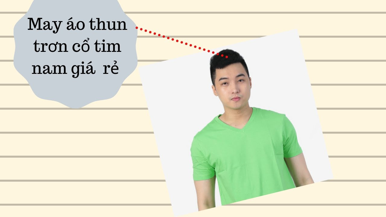 May áo thun trơn cổ tim nam giá rẻ – thethaoyes.com