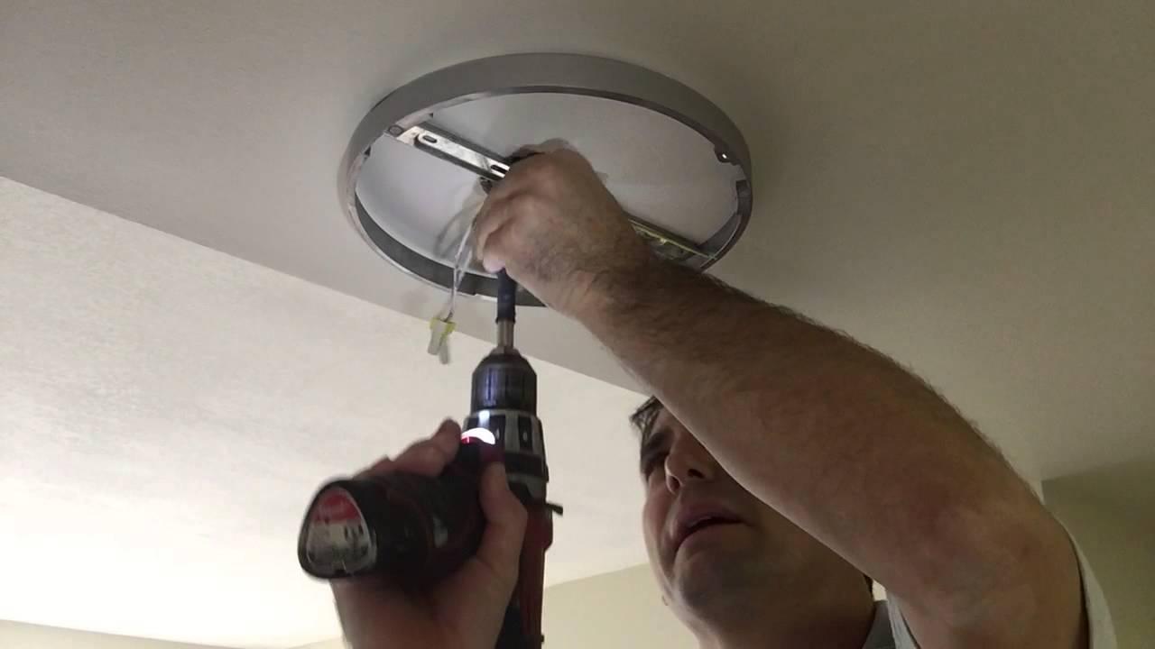 Como poner una l mpara de techo ld youtube - Instalar lampara techo ...