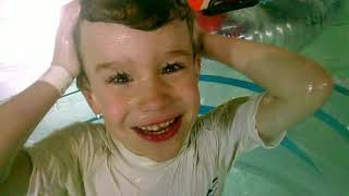 Travel Kids, Grand Harbor Waterpark, Dubuque Iowa - Filmed on the Drograce Waterproof Camera