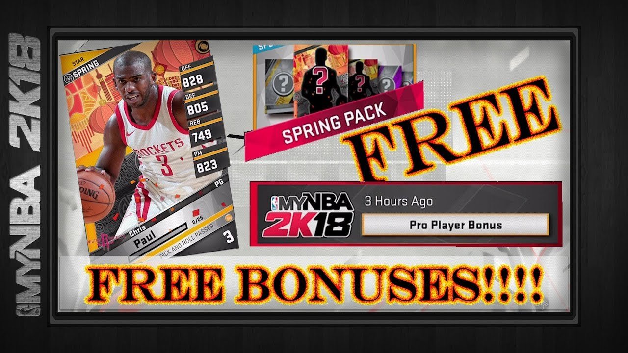 MyNBA2k18 | FREE SPRING CARD & FREE PRO PLAYER | Up To Superstar Tier |  Limited Time |