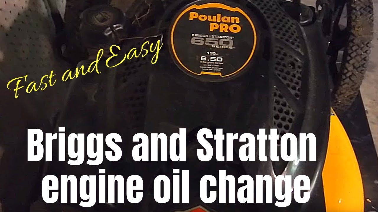 Briggs Engine Lawn Mower: How To Change Oil On Briggs and