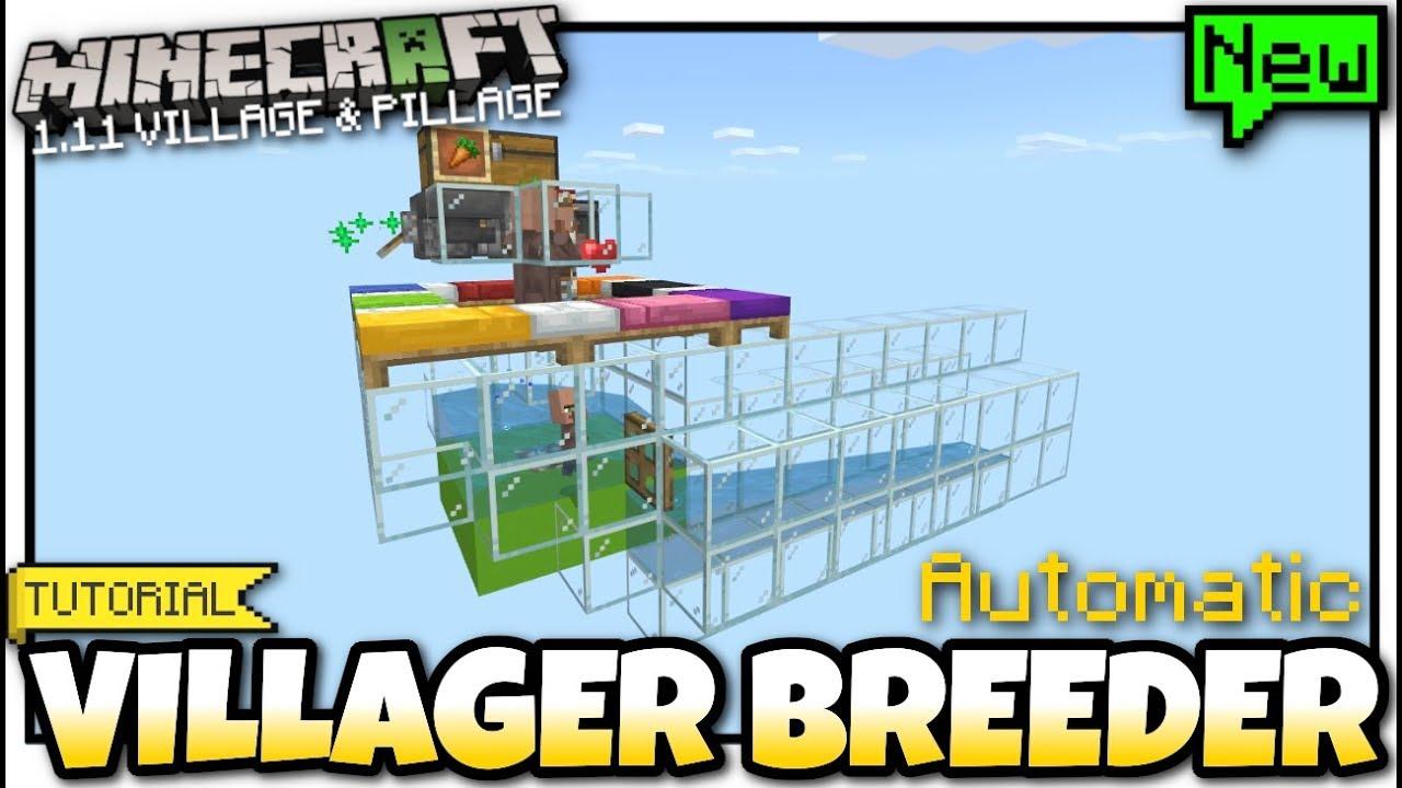 Minecraft Bedrock - 12.1212 VILLAGER BREEDER ( Automatic )[ Redstone Tutorial  ] MCPE / Xbox / Switch