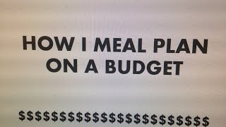 How I meal Plan Thumbnail