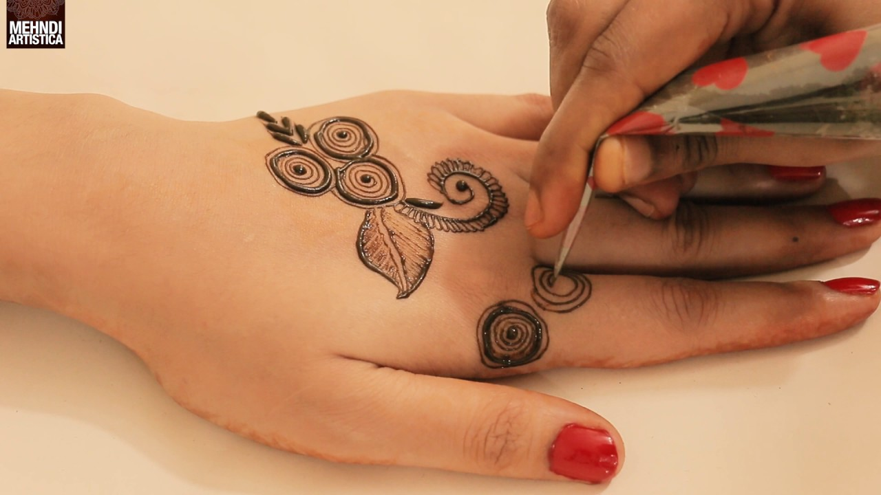 Cute Unique Mehndi Design For Date Romantic Teenager Mehendi Style For Upper Side