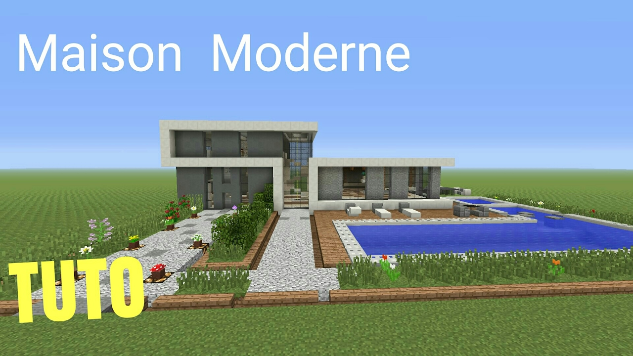 Tuto minecraft maison moderne 4 ps4 ps3 xbox360 xboxone for Maison moderne youtube minecraft