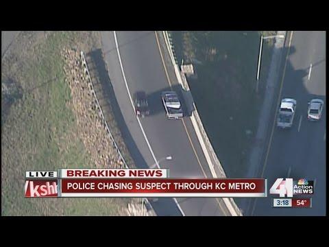 Police chase suspect through Kansas City metro