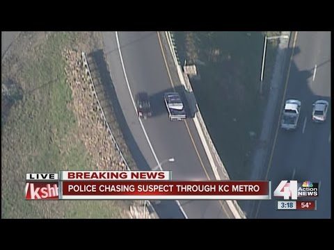 Police chase suspect through Kansas City metro