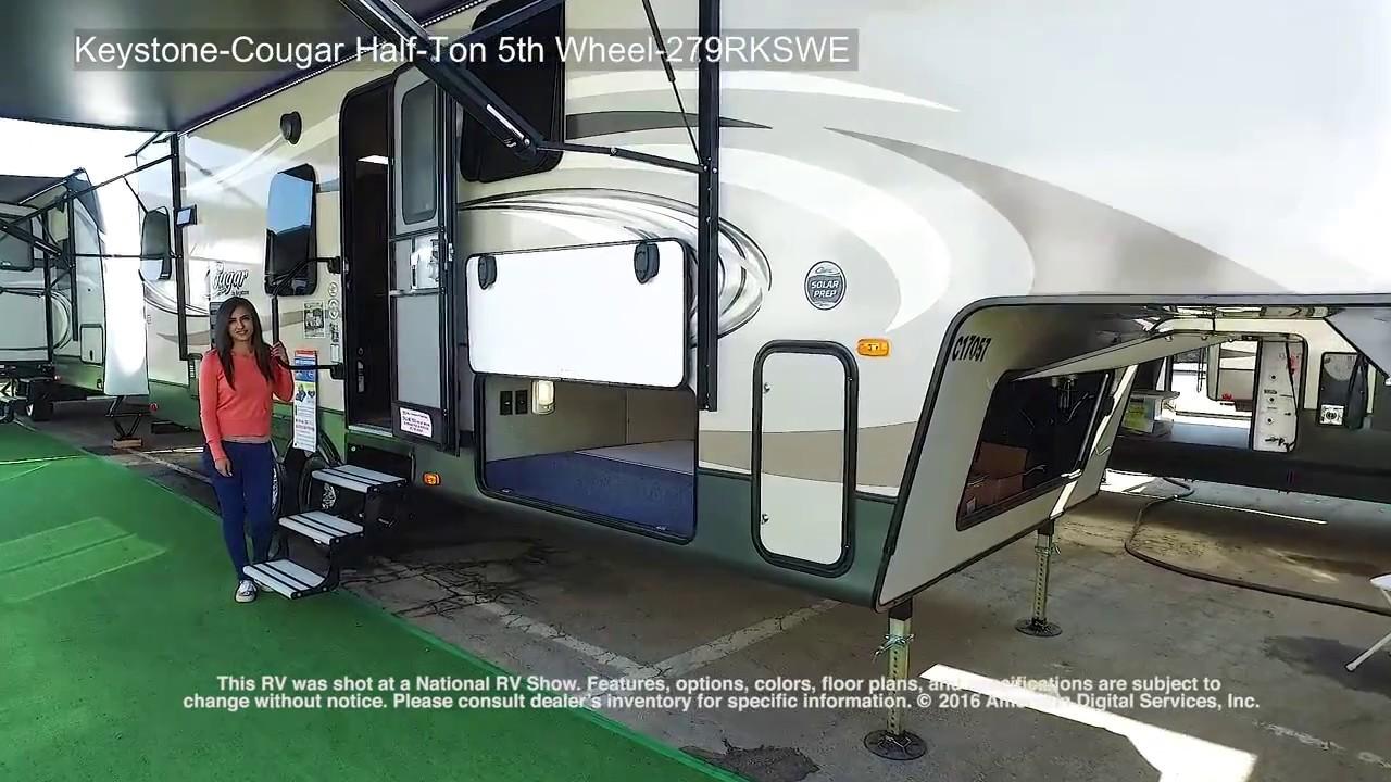 keystone cougar half ton 5th wheel 279rkswe youtube