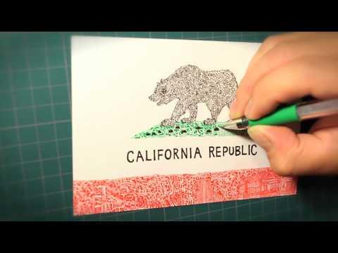 """The California Republic"" drawing by Daisuke Okamoto"