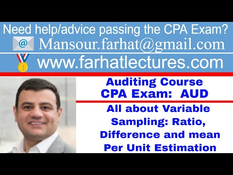 Variable sampling for auditing CPA exam Auditing Course