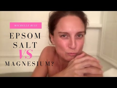 What's The Difference Between An Epsom Salt Bath And A Magnesium Bath?