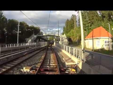 Cabview Line 13 Oslo tramway (SL95 tram)