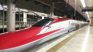 秋田新幹線 こまち27号 秋田行き E6系と東北新幹線 はやぶさ27号 新青森行き E5系 2018.01.13