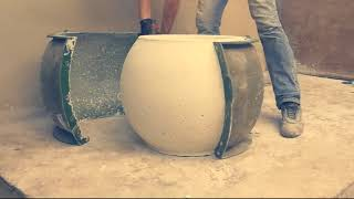 видео уличные вазоны бетонные