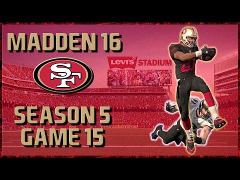 Madden 16 Franchise: San Francisco 49ers | Year 5, Game 15 vs Ravens