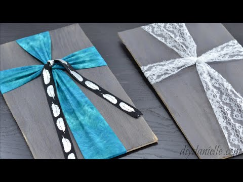 How to Make a Wood Cross Display with Fabric