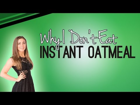Why I Don't Eat Instant Oatmeal