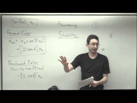 ME564 Lecture 17:  Numerical solutions to ODEs (Forward and Backward Euler)