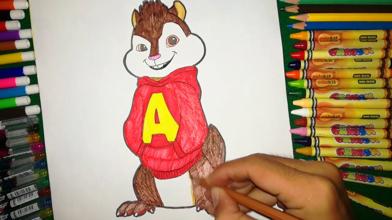 Coloring Alvin And The Chipmunk