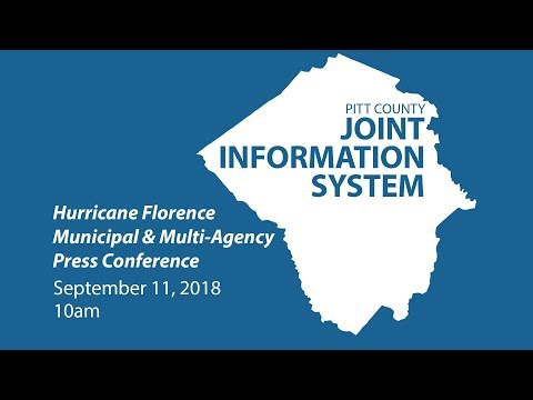 Pitt County Joint Information System Hurricane Florence Municipal & Multi-Agency Press Conference