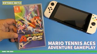 Mario Tennis Aces Adventure Gameplay