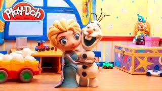 Stop Motion Elsa Frozen Play Doh claymation animation video