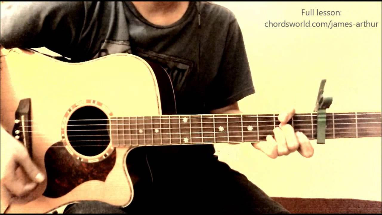 Impossible Chords James Arthur Chordsworld Guitar Tutorial
