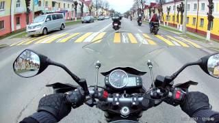 открытие мотосезона в Речице 2017. Мотоцикл SYM WOLF T2