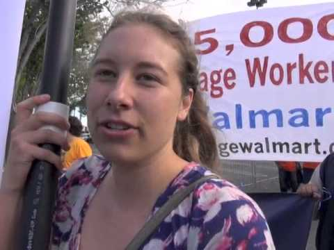Obama Shilling For Walmart-Labor Community Protests  Union B