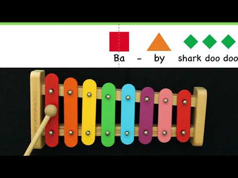 Baby Shark Practice Video for Kids Music Play-along | Xylophone