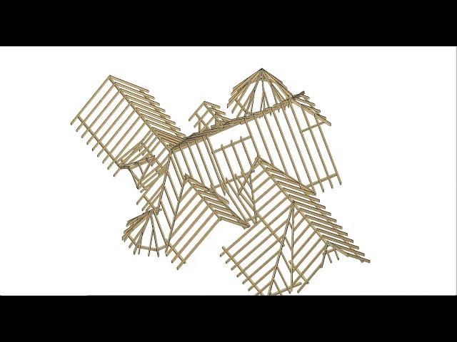 Konstrukcja więźby dachowej - Dom Wczasowy Perła II, Szklarska Poręba
