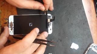 Смотреть видео треснуло стекло на айфоне