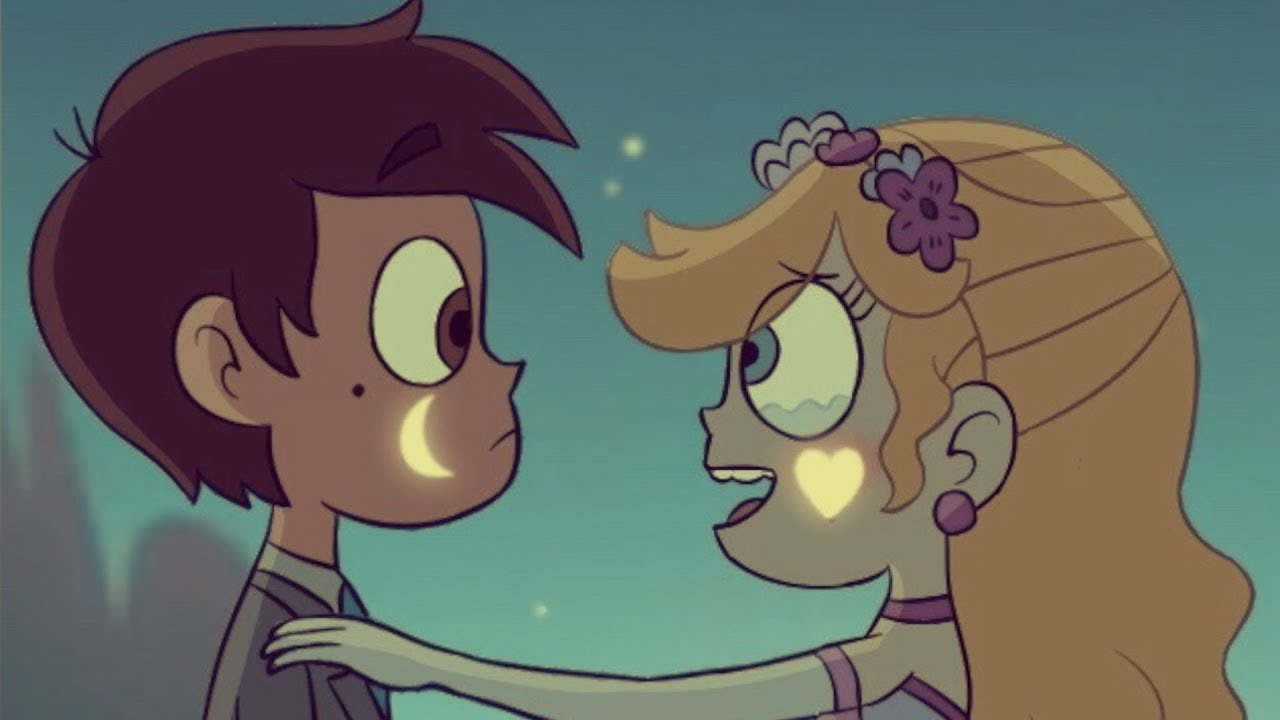 Star Vs The Forces Of Evil Starco Kiss In The Light Of The Blood