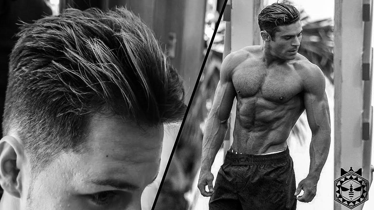 Zac Efron Baywatch Men's Hairstyle | Van Beesley - YouTube