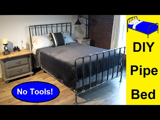 Diy Pipe Bed With No Tools, Pipe Bed Frame Queen