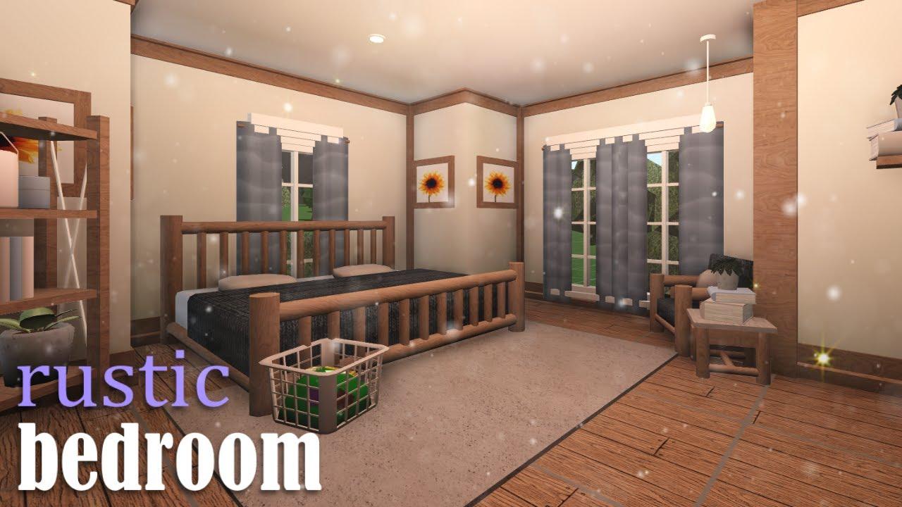 Roblox: Bloxburg   Rustic Bedroom   Speedbuild - YouTube
