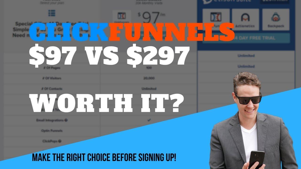 ClickFunnels - $97 vs $297 - Which ClickFunnels Plan Should You Choose?