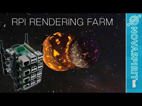 Raspberry Pi Cluster Blender Rendering Farm