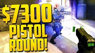 $7300 PISTOL ROUND?! - CS GO Funny Moments in Competitive