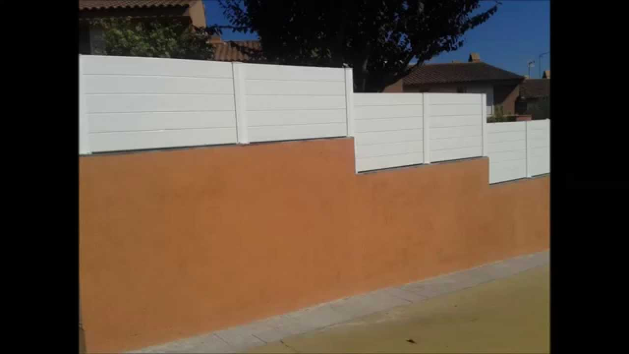 Vallas jard n en pvc cayfi sl youtube for Portail jardin pvc