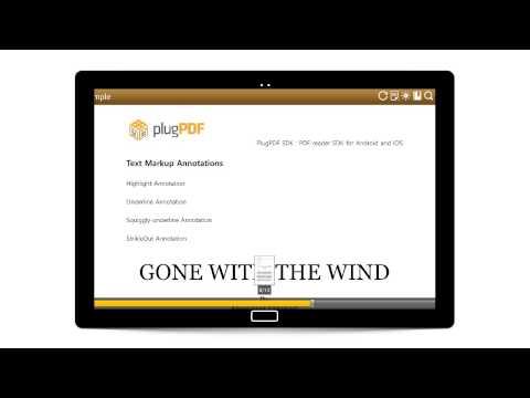 PlugPDF: Text Markup Annotations