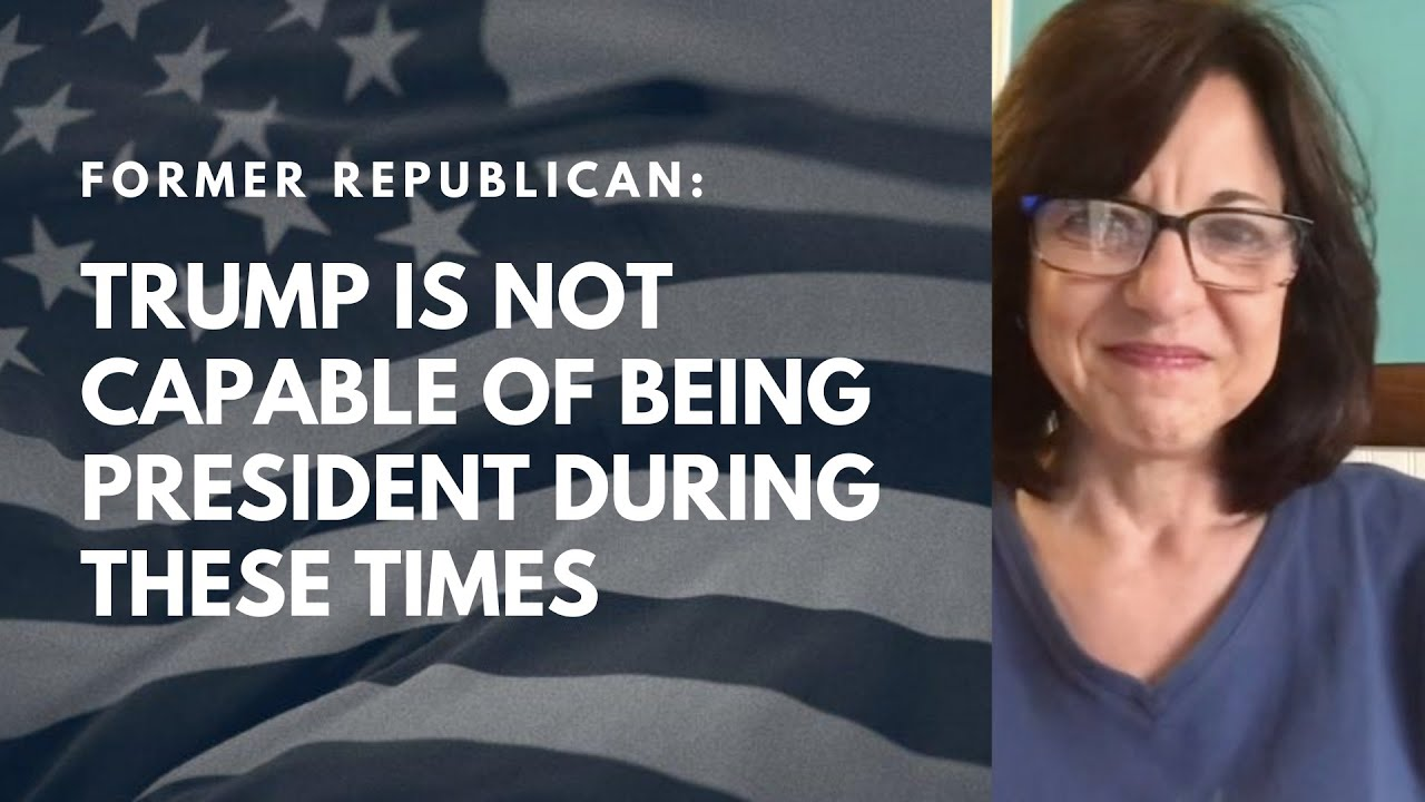 Lisa feels Trump is not capable of handling our current crises, so she is voting for Joe Biden.
