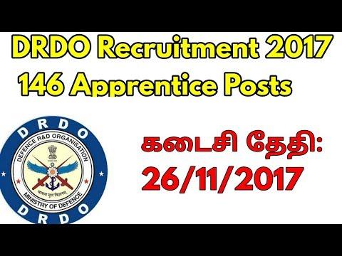 DRDO Recruitment 2017 – 146 Apprentice Posts for ITI