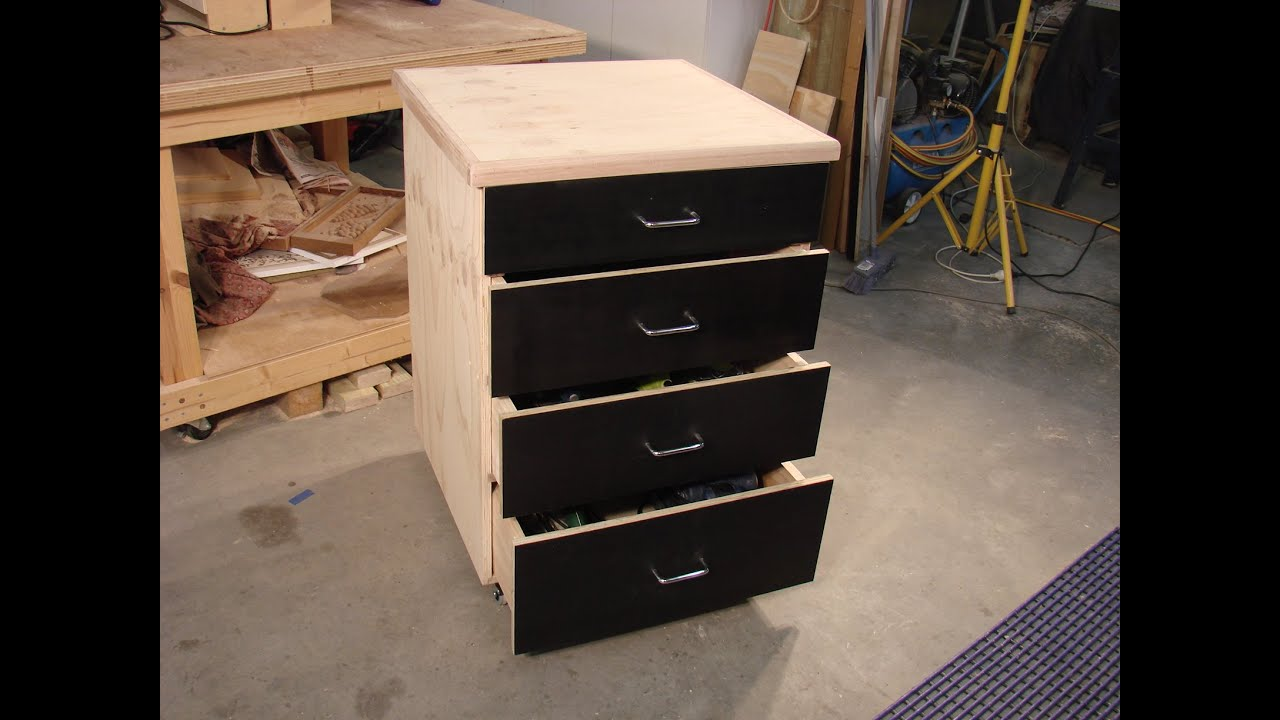 61 Build A Simple Mobile Shop Storage Cabinet Part 2 Youtube