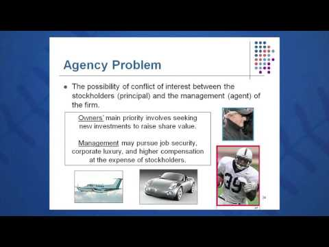 Session 01: Objective 4 - Agency Problem and Control of the Corporation (2016)
